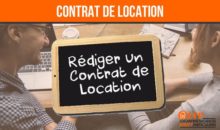 CONTRAT DE LOCATION DE VACANCES