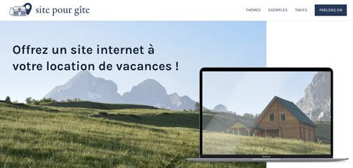 Création de sites internet pour gite et location saisonnières