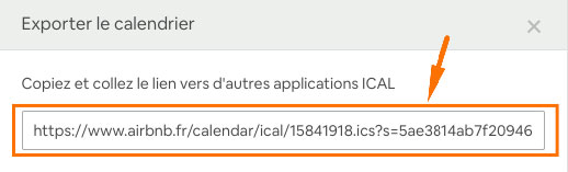 exporter un planning ical Airbnb